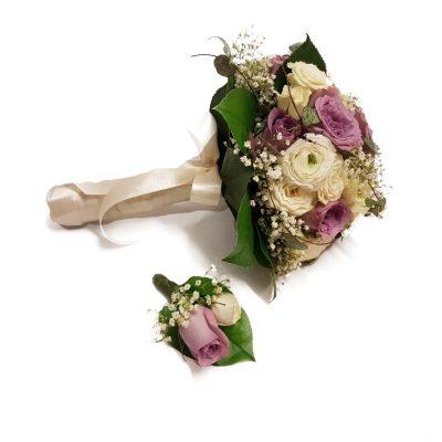 Brudebuket med knaphulsblomst