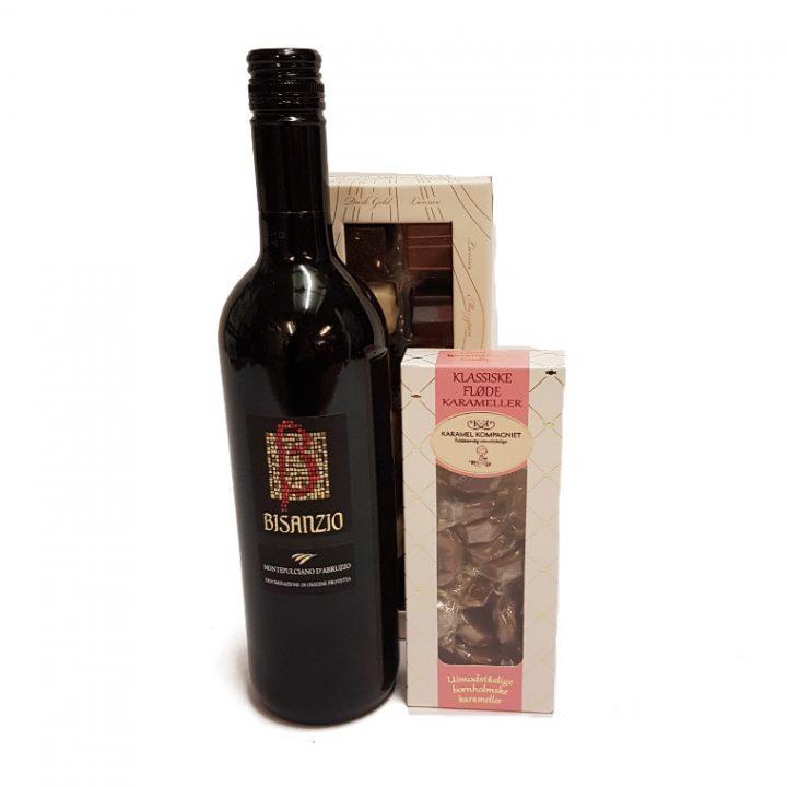 vin pakke m. chokolade og karamel