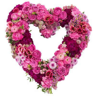 Hjerte i pink og lyserød