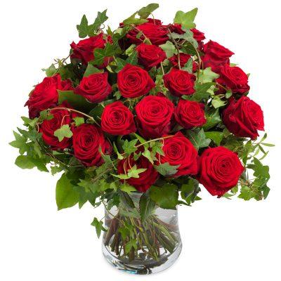 Buket med 20 røde roser