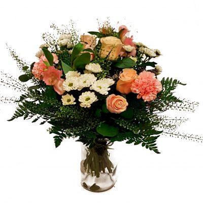 markbuket til blomster abonnement