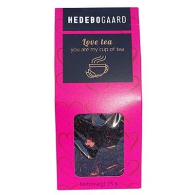 Kærligheds te med sukkerhjerter i