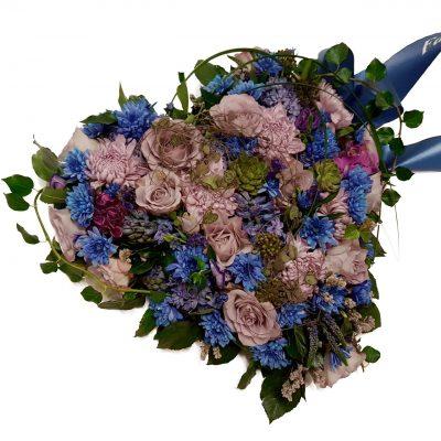 lilla og blå hjerte