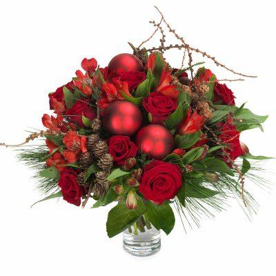 Juleglæde, rød julebuket