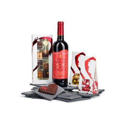 Livsnyderen firmagave med vin og chokolade