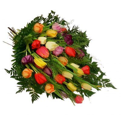 bårebuket med tulipaner