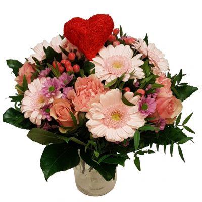 Send en romantisk buket til valentine eller bare fordi