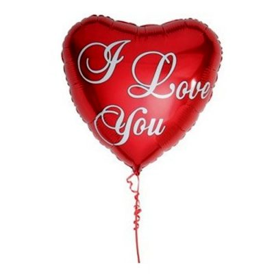 Rød I love you Ballon