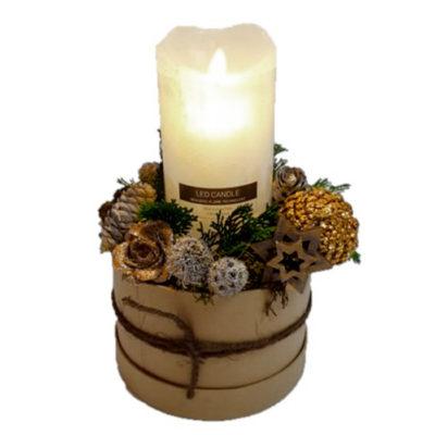 smuk juledekoration med ledlys til levering eller udbringning julen.
