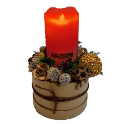 holdbar juledekoration med rødt led lys. til levering eller udbringning, julegave